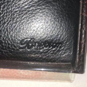 Brighton black bread Croc Leather organizer wallet